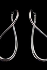 Sanjoya Silver, dark gray infinity earrings
