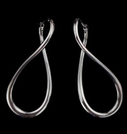 Sanjoya Silver, dark gray infinity earrings