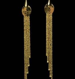 Sanjoya Stylish long goldplated silver earrings, Sanjoya
