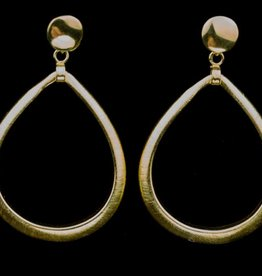 Sanjoya Large gold plated silver teardrop earrings, Sanjoya