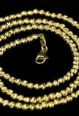 Sanjoya Vivid and sparkling gold plated silver necklace, Sanjoya