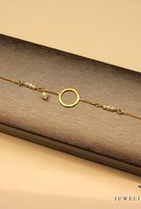 Sanjoya Gold-plated silver bracelet with pearls, Sanjoya