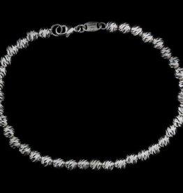 Sanjoya Italiaans armbandje zwart/grijs zilver, Sanjoya