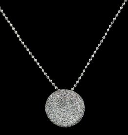 Sanjoya Elegant silver necklace with zirconia pendant, Sanjoya