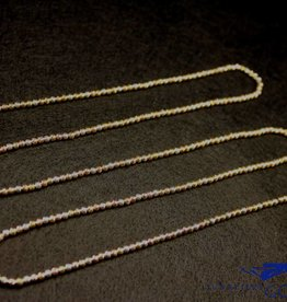 Sanjoya Italiaanse ketting 3-kleurig zilver 80cm, Sanjoya