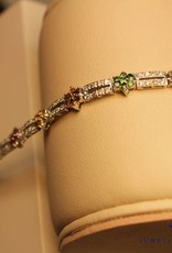 18k white gold bracelet with gemstones and diamonds