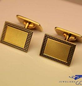 14k gouden strakke manchetknopen