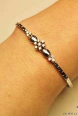 14 carat white gold bracelet with brilliant cut diamond