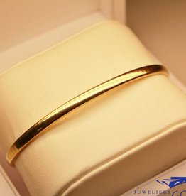 14 carat gold smooth bracelet