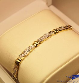14 carat yellow gold bracelet with zirconia