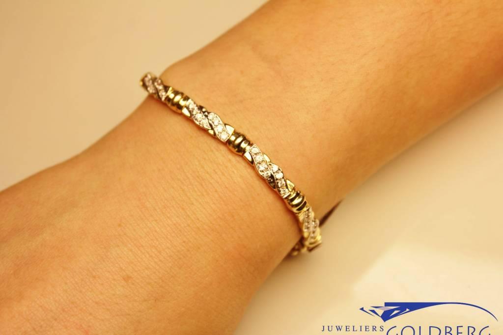 14k geelgouden armband met zirconia