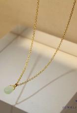 MAS Jewelz MAS necklace amazonite gold plated silver