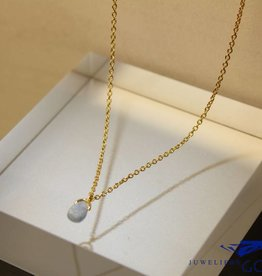 MAS Jewelz MAS necklace blue qwartz gold plated silver