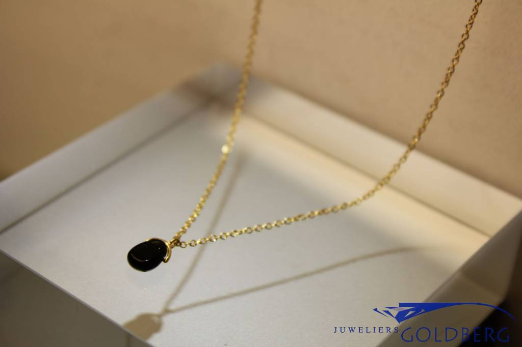 MAS Jewelz MAS necklace blackstone gold plated silver