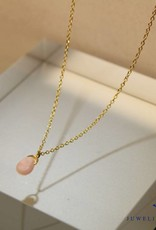 MAS Jewelz MAS necklace pink opal gold plated silver