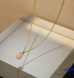 MAS Jewelz MAS collier roze opaal verguld zilver