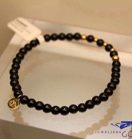 MAS Jewelz MAS armbandje blackstone goud model 2 M