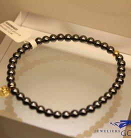 MAS Jewelz MAS armbandje hematiet goud model 1 M