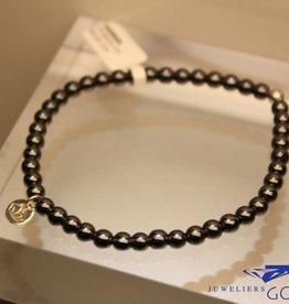 MAS Jewelz MAS armbandje hematiet zilver model 1 M