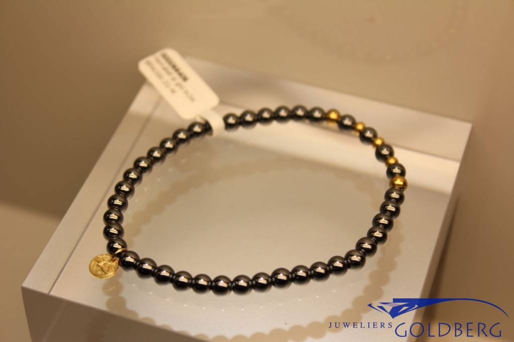 MAS Jewelz MAS bracelet hematite gold model 2 M