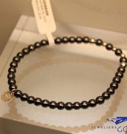 MAS Jewelz MAS armbandje hematiet zilver model 2 M