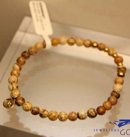 MAS Jewelz MAS bracelet landscape jasper gold model 2 M