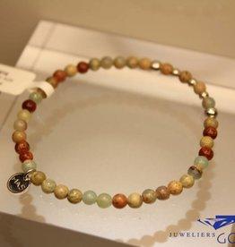 MAS Jewelz MAS armbandje serpentijn zilver model 2 M