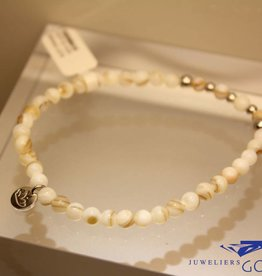 MAS Jewelz MAS armbandje mother of pearl zilver model 2 M