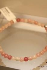 MAS Jewelz MAS bracelet pink opal silver model 1 M