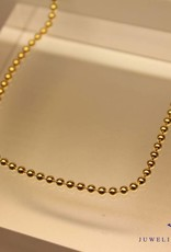 Gold plated beads necklace 2,2mm 50cm
