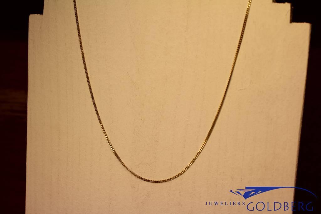 14k gouden gourmet ketting 1,35mm 42cm