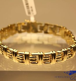 14k fantasie armband 11mm breed