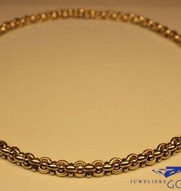 14k gouden bicolor fantasie collier 7mm