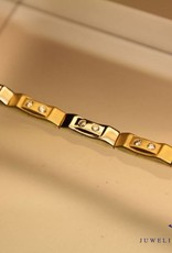 14 carat gold bicolor bracelet with zirconia's