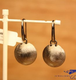 Sanjoya Silver short hanging grey earrings