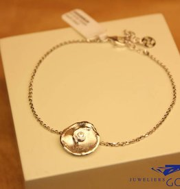 "Sanjoya Silver bracelet with small ""flower"""