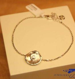 """Sanjoya Zilveren armbandje met """"bloem"""""""
