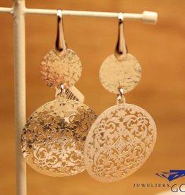 Sanjoya Zilveren hangende oorbellen