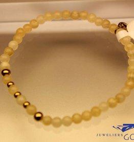 MAS Jewelz MAS armbandje calciet goud model 2 M