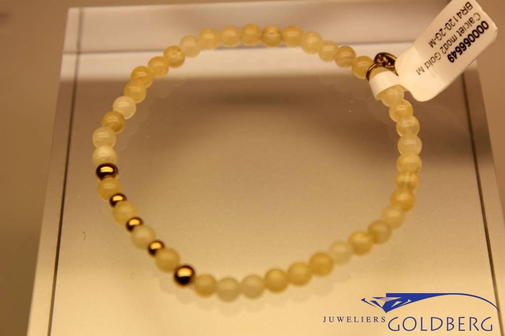 MAS Jewelz MAS bracelet calcite gold model 2 M