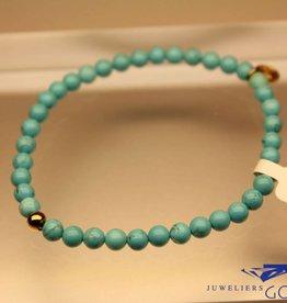 MAS Jewelz MAS armbandje Turkoois goud model 1 M