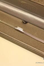 zilveren armband zirconia modern rechthoekig