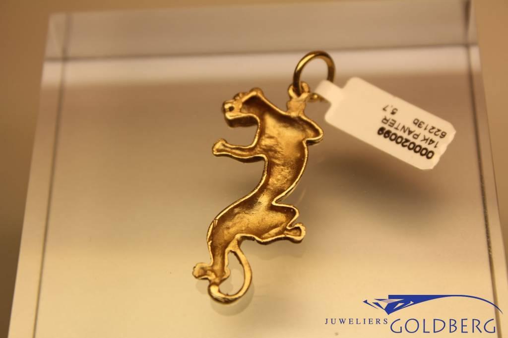 14 carat gold panther pendant 40mm