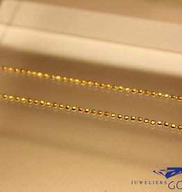Gold plated silver beads necklace 1,5mm 50cm