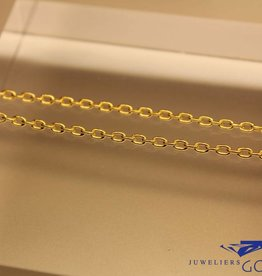 verguld zilveren anker collier 2mm
