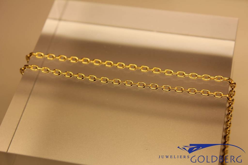 "gold plated silver ""anchor chain"" necklace 2mm"