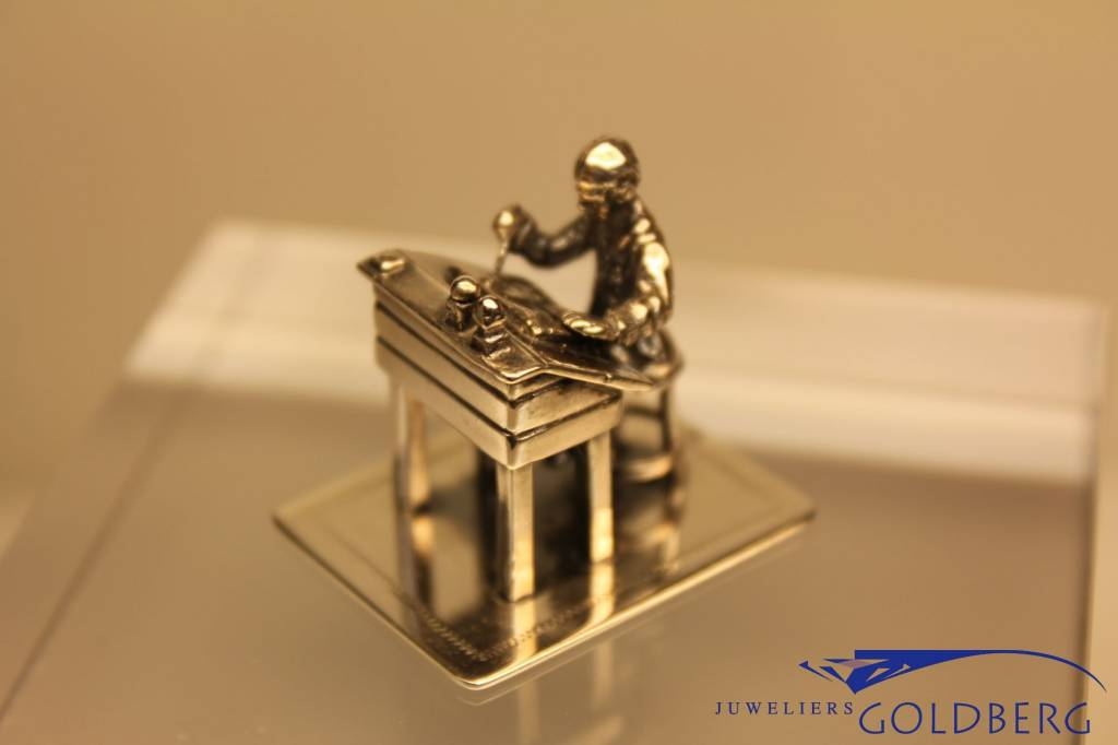 Silver miniature lectern and writer