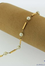 18 carat gold bracelet with pearls