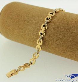 14 carat gold bracelet with zirconia