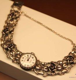 Zilveren Vintage dames horloge Bijoux Jaques